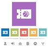 Basketball discount coupon flat white icons in square backgrounds - Basketball discount coupon flat white icons in square backgrounds. 6 bonus icons included.