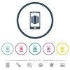 Setting up mobile homescreen flat color icons in round outlines - Setting up mobile homescreen flat color icons in round outlines. 6 bonus icons included.