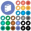 Single book round flat multi colored icons - Single book multi colored flat icons on round backgrounds. Included white, light and dark icon variations for hover and active status effects, and bonus shades.