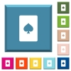 Spades card symbol white icons on edged square buttons - Spades card symbol white icons on edged square buttons in various trendy colors