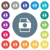 Certificate file flat white icons on round color backgrounds - Certificate file flat white icons on round color backgrounds. 17 background color variations are included.