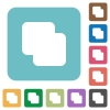 Add shapes rounded square flat icons - Add shapes white flat icons on color rounded square backgrounds