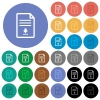 Download document round flat multi colored icons - Download document multi colored flat icons on round backgrounds. Included white, light and dark icon variations for hover and active status effects, and bonus shades.