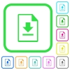 Download file vivid colored flat icons - Download file vivid colored flat icons in curved borders on white background
