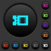 Movie discount coupon dark push buttons with color icons - Movie discount coupon dark push buttons with vivid color icons on dark grey background