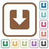 Download simple icons - Download simple icons in color rounded square frames on white background