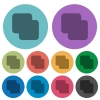 Add shapes color darker flat icons - Add shapes darker flat icons on color round background