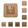 Upload file wooden buttons - Upload file on rounded square carved wooden button styles