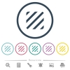 Texture flat color icons in round outlines. 6 bonus icons included. - Texture flat color icons in round outlines