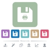 Rename file flat icons on color rounded square backgrounds - Rename file white flat icons on color rounded square backgrounds. 6 bonus icons included