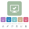 Accept display settings flat icons on color rounded square backgrounds - Accept display settings white flat icons on color rounded square backgrounds. 6 bonus icons included
