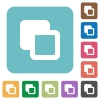 Subtract shapes rounded square flat icons - Subtract shapes white flat icons on color rounded square backgrounds