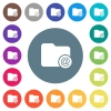 Directory email flat white icons on round color backgrounds - Directory email flat white icons on round color backgrounds. 17 background color variations are included.