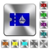 cruise discount coupon rounded square steel buttons - cruise discount coupon engraved icons on rounded square glossy steel buttons