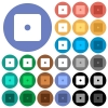 Dice one round flat multi colored icons - Dice one multi colored flat icons on round backgrounds. Included white, light and dark icon variations for hover and active status effects, and bonus shades.