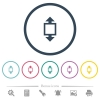 Height tool flat color icons in round outlines - Height tool flat color icons in round outlines. 6 bonus icons included.