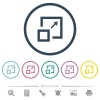 Enlarge window flat color icons in round outlines - Enlarge window flat color icons in round outlines. 6 bonus icons included.