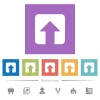 Upload flat white icons in square backgrounds - Upload flat white icons in square backgrounds. 6 bonus icons included.