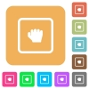 Grab object rounded square flat icons - Grab object flat icons on rounded square vivid color backgrounds.