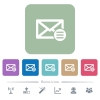 Mail options flat icons on color rounded square backgrounds - Mail options white flat icons on color rounded square backgrounds. 6 bonus icons included
