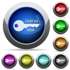 2048 bit rsa encryption round glossy buttons - 2048 bit rsa encryption icons in round glossy buttons with steel frames