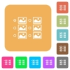 Single image selection with radio buttons rounded square flat icons - Single image selection with radio buttons flat icons on rounded square vivid color backgrounds.