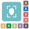 Camera portrait mode rounded square flat icons - Camera portrait mode white flat icons on color rounded square backgrounds