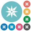 Compass flat round icons - Compass flat white icons on round color backgrounds