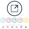 Maximize window flat color icons in round outlines - Maximize window flat color icons in round outlines. 6 bonus icons included.