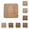 Debugging program wooden buttons - Debugging program on rounded square carved wooden button styles