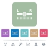 Audio balance control flat icons on color rounded square backgrounds - Audio balance control white flat icons on color rounded square backgrounds. 6 bonus icons included