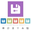 Encrypt file flat white icons in square backgrounds - Encrypt file flat white icons in square backgrounds. 6 bonus icons included.