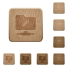FTP edit wooden buttons - FTP edit on rounded square carved wooden button styles