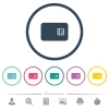 Chip card flat color icons in round outlines - Chip card flat color icons in round outlines. 6 bonus icons included.
