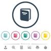 Album flat color icons in round outlines - Album flat color icons in round outlines. 6 bonus icons included.