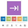 Keyboard tab flat white icons in square backgrounds. 6 bonus icons included. - Keyboard tab flat white icons in square backgrounds