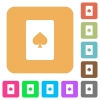 Spades card symbol rounded square flat icons - Spades card symbol flat icons on rounded square vivid color backgrounds.