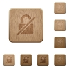 Unprotected on rounded square carved wooden button styles - Unprotected wooden buttons