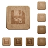 Zipped file wooden buttons - Zipped file on rounded square carved wooden button styles