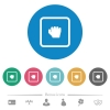 Grab object flat round icons - Grab object flat white icons on round color backgrounds. 6 bonus icons included.