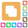 Add shapes rounded square flat icons - Add shapes flat icons on rounded square vivid color backgrounds.