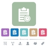 Note timer flat icons on color rounded square backgrounds - Note timer white flat icons on color rounded square backgrounds. 6 bonus icons included