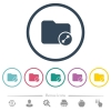 Uncompress directory flat color icons in round outlines - Uncompress directory flat color icons in round outlines. 6 bonus icons included.