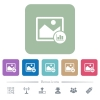 Image histogram white flat icons on color rounded square backgrounds. 6 bonus icons included - Image histogram flat icons on color rounded square backgrounds