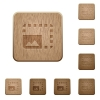 Enlarge photo on rounded square carved wooden button styles - Enlarge photo wooden buttons