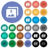 Download multiple images round flat multi colored icons - Download multiple images multi colored flat icons on round backgrounds. Included white, light and dark icon variations for hover and active status effects, and bonus shades.