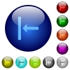 Align to left color glass buttons - Align to left icons on round color glass buttons