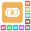 Lottery ticket rounded square flat icons - Lottery ticket flat icons on rounded square vivid color backgrounds.