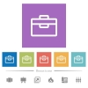 Toolbox flat white icons in square backgrounds - Toolbox flat white icons in square backgrounds. 6 bonus icons included.