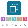 Send element to back flat icons on color rounded square backgrounds - Send element to back white flat icons on color rounded square backgrounds. 6 bonus icons included